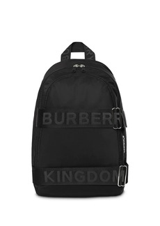Burberry large logo strap backpack