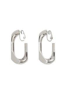 Burberry Large Palladium-plated Chain Link Earrings