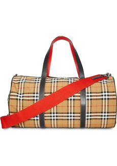 Burberry Large Vintage Check and Leather Barrel Bag