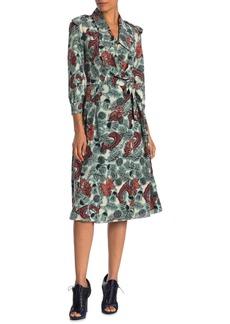 Burberry Layla Floral Silk Wrap Dress