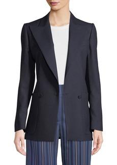 Burberry Leamington Pindot Wool Single-Button Jacket