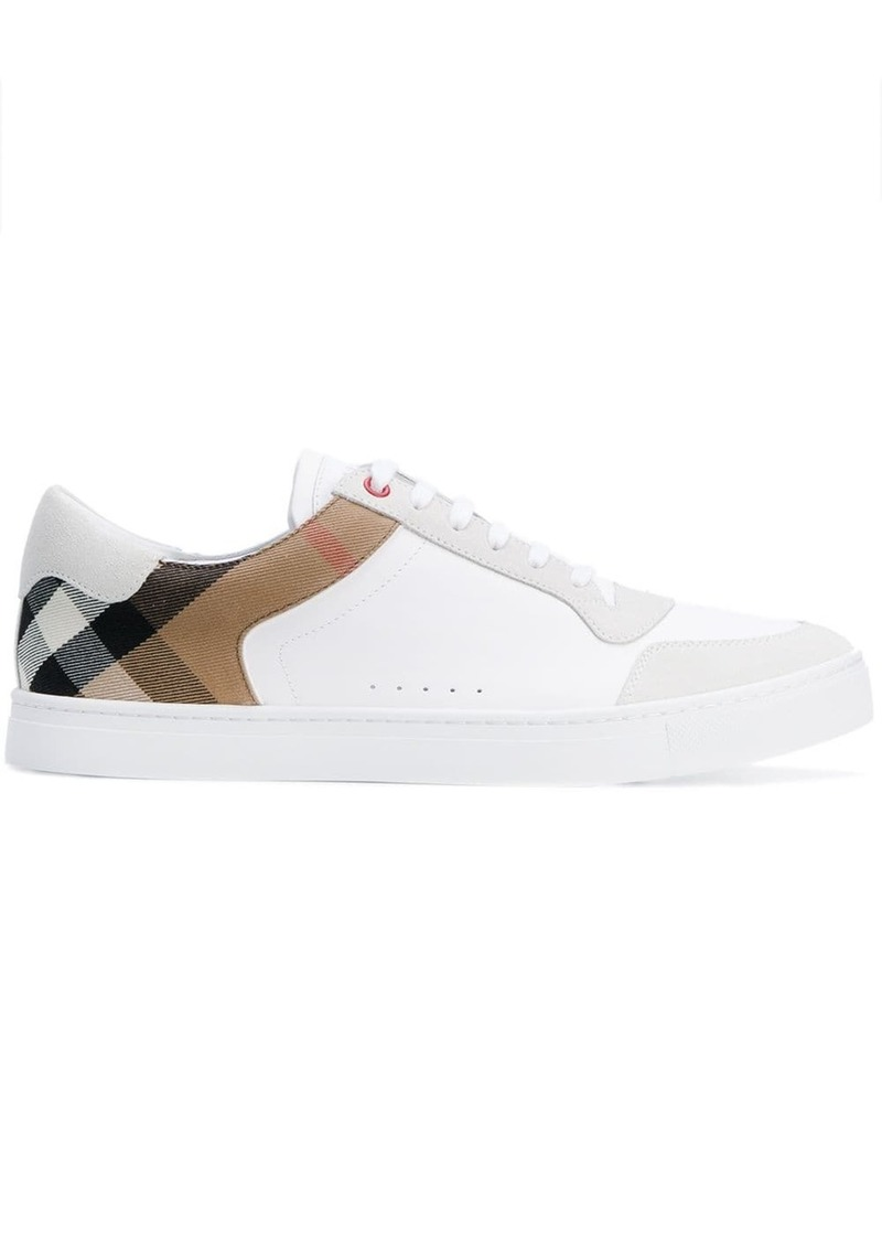 Burberry Leather and House Check Sneakers