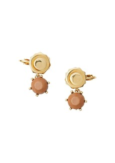 Burberry Leather Charm Gold-plated Nut and Bolt Earrings