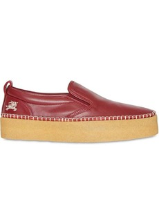Burberry Leather Slip-on Sneakers