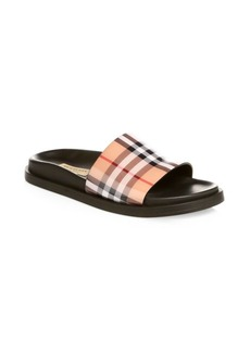 Burberry Leather Sole Pool Slides