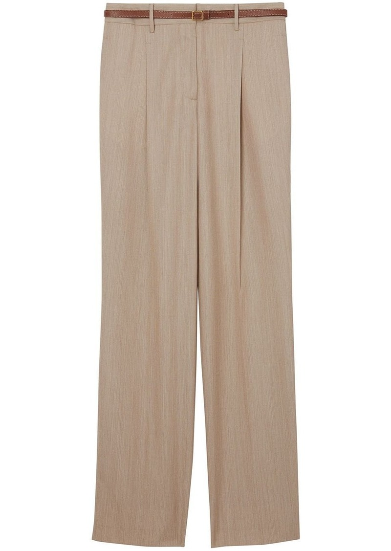 Burberry Leather Stripe Tailored Trousers