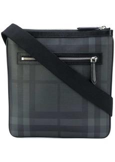 Burberry Leather Trim London Check Crossbody Bag