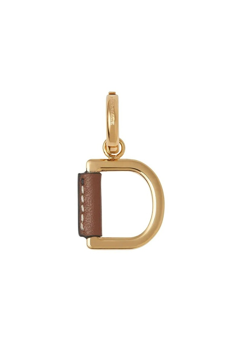 Burberry Leather-wrapped 'D' Alphabet Charm