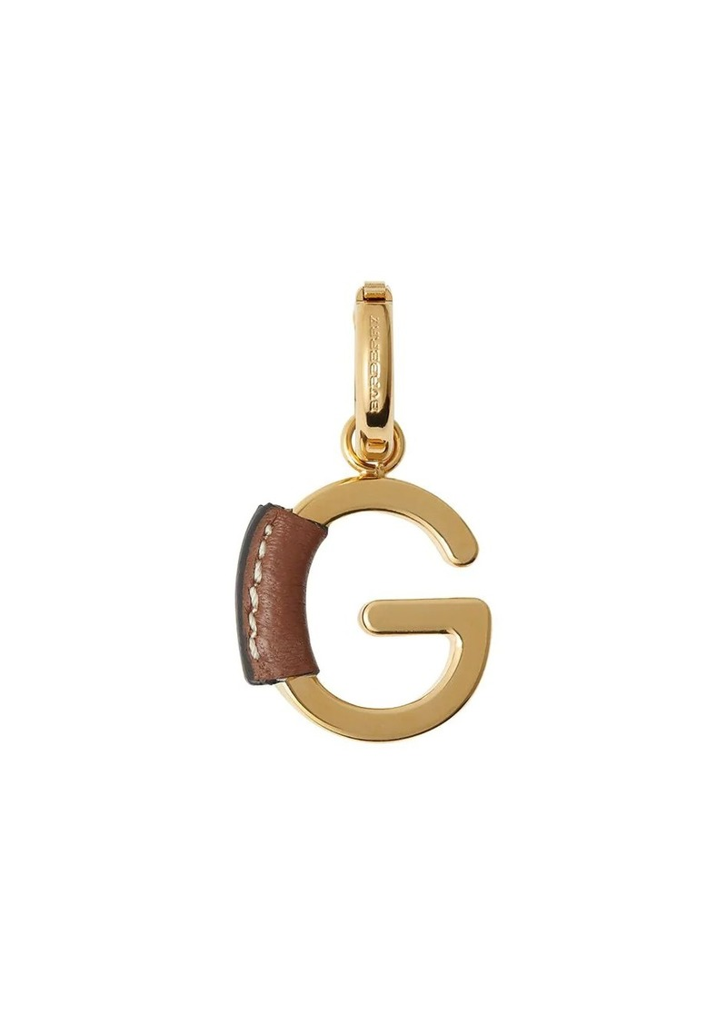 Burberry leather-wrapped 'G' charm