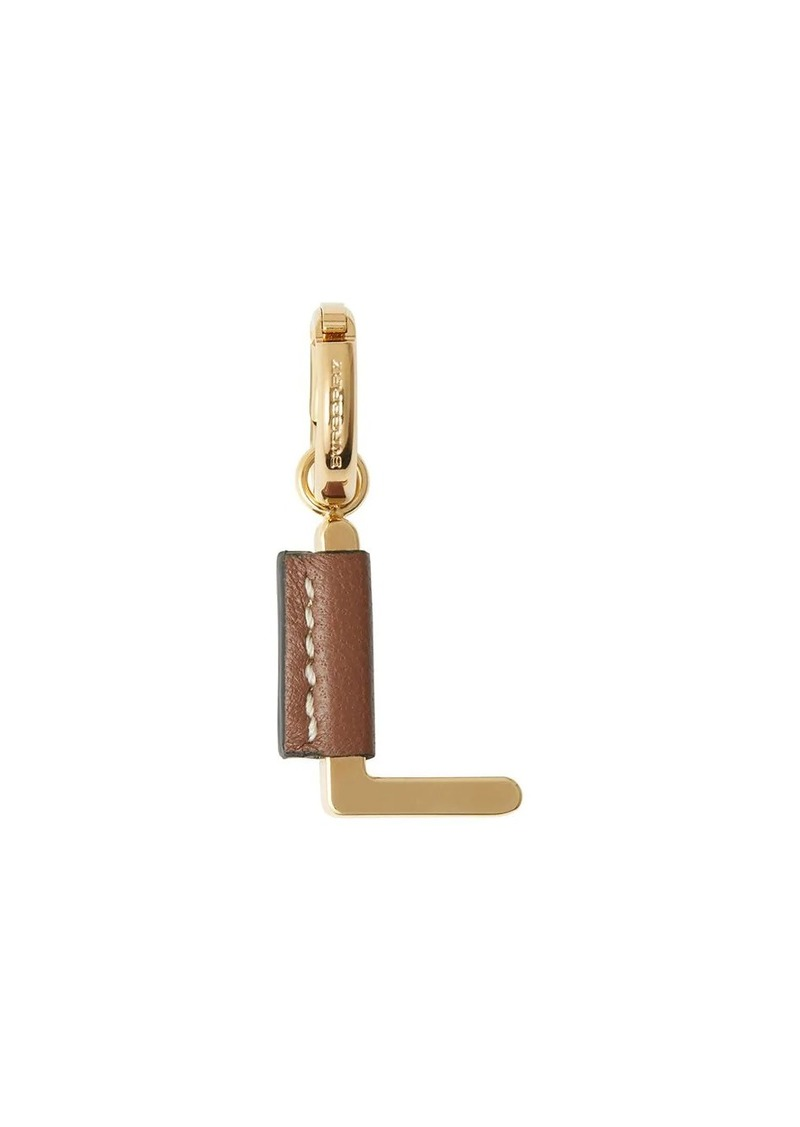 Burberry leather-wrapped 'L' alphabet charm