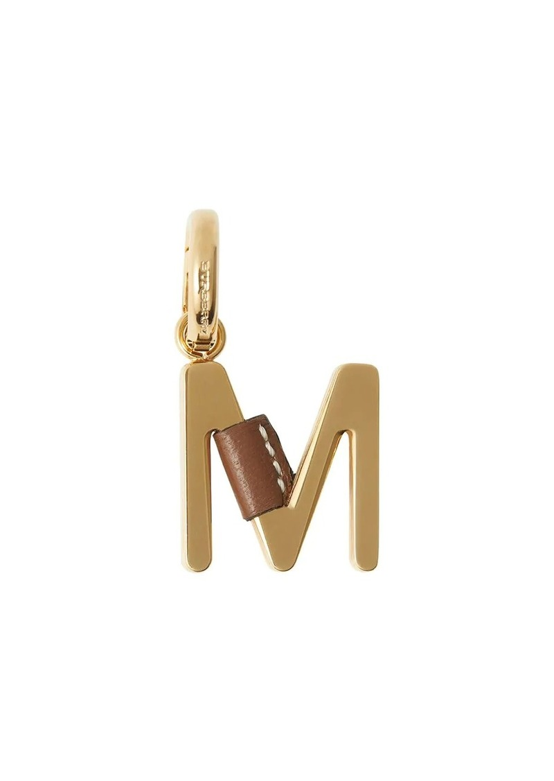 Burberry leather-wrapped 'M' charm