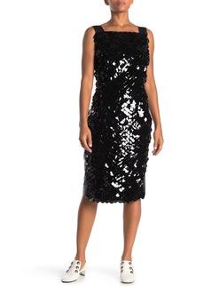 Burberry Leonie Sequin Leather Dress