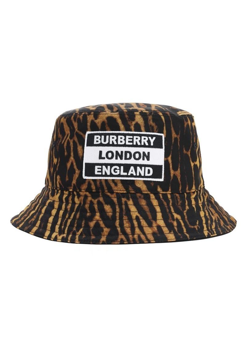 Burberry Leopard Print Nylon Bucket Hat