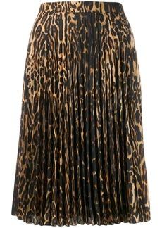 Burberry leopard-print pleated skirt