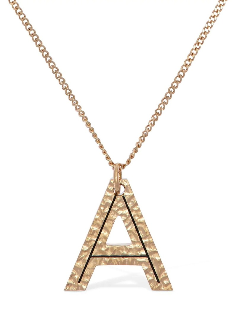 "Burberry ""Letter """"a"""" Charm Necklace"""