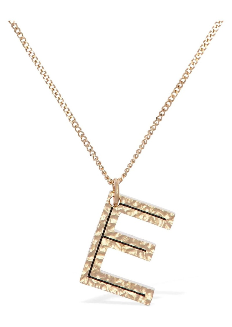 "Burberry ""Letter """"e"""" Charm Necklace"""