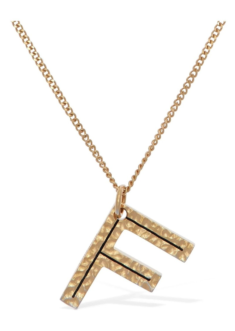 "Burberry ""Letter """"f"""" Charm Necklace"""