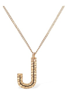 "Burberry ""Letter """"j"""" Charm Necklace"""