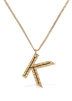 "Burberry ""Letter """"k"""" Charm Necklace"""