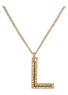 "Burberry ""Letter """"l"""" Charm Necklace"""