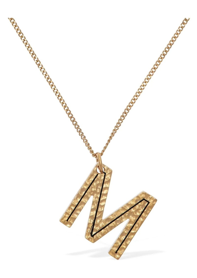 "Burberry ""Letter """"m"""" Charm Necklace"""