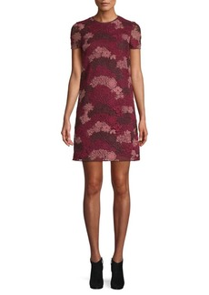 Burberry Lian Floral Lace Shift Dress