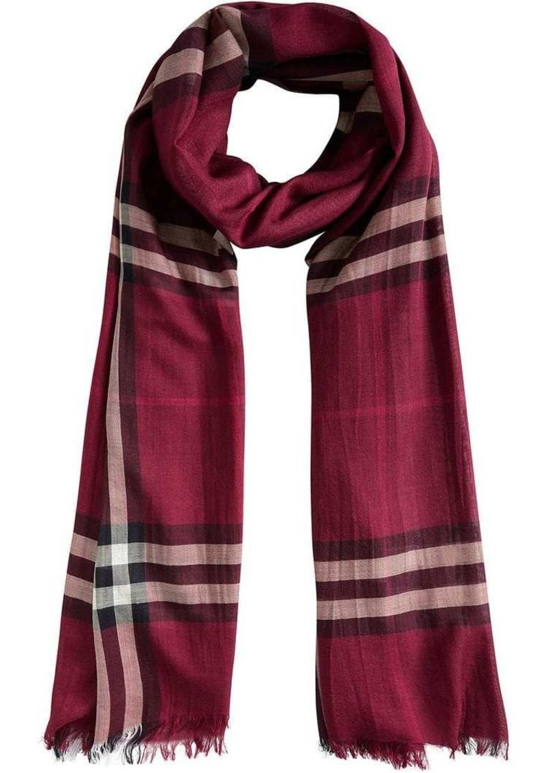 Burberry Lightweight Check Wool and Silk Scarf  91462812ff