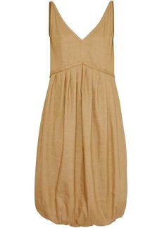 Burberry Linen Blend Bubble Hem Dress