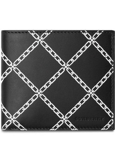 Burberry link print bi-fold wallet