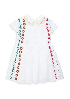 Burberry Litte Girl's & Girl's Eadella Embroidered A-Line Dress