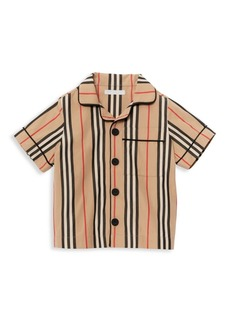 Burberry Little Boy's & Boy's Andres Icon Stripe Pajama Shirt