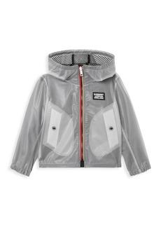 Burberry Little Boy's & Boy's Bardy Clear Mesh Rain Coat