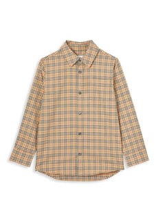 Burberry Little Boy's & Boy's Check Stretch Shirt