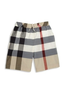 Burberry Little Boy's & Boy's Check Swim Trunks
