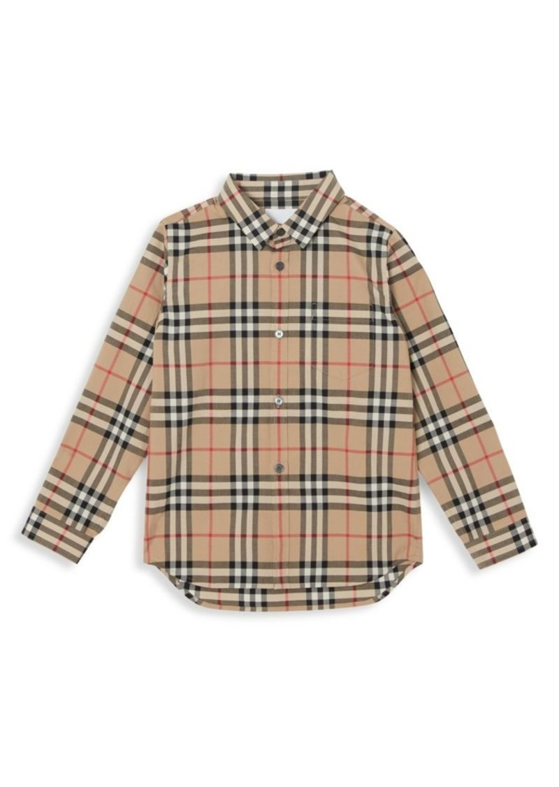 Burberry Little Boy's & Boy's Frederick Woven Cotton Check Shirt