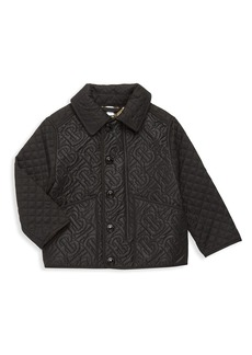 Burberry Little Boy's & Boy's Giaden Quilted Monogram Jacket