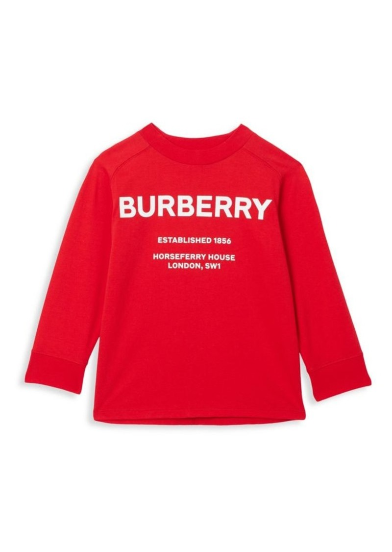 Burberry Little Boy's & Boy's Griffon Cotton Long-Sleeve Shirt