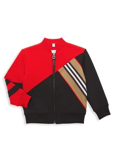 Burberry Little Boy's & Boy's Mortie Colorblock Track Jacket