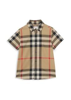 Burberry Little Boy's & Boy's Owen Oversized Vintage-Check Short-Sleeve Shirt