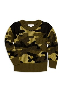 Burberry Little Boy's & Boy's Ribbed Wool Camouflage Sweater
