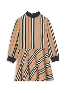 Burberry LIttle Girl's & Girl's Agatha Iconic Stripe Dress