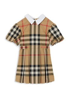 Burberry Little Girl's & Girl's Barbara KG2 Check A-Line Dress