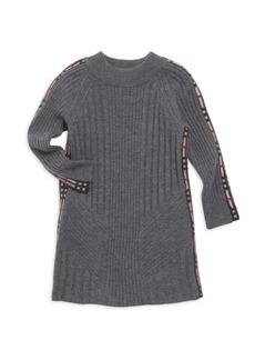 Burberry Little Girl's & Girl's Cathina Check-Detail Sweater Dress