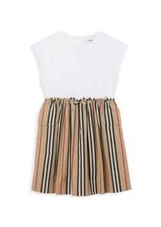 Burberry Little Girl's & Girl's KG2 Romona Striped Pleated Dress