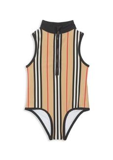 Burberry Little Girl's & Girl's KG7 Siera Stripe One-Piece Swimsuit