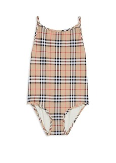 Burberry Little Girl's & Girl's One-Piece Sandie Check Swimsuit