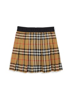 Burberry Little Girl's & Girl's Pansie Cotton Plaid Skirt