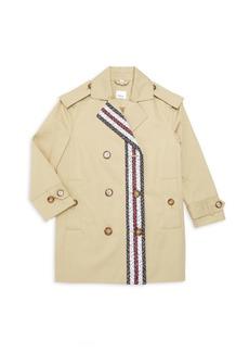 Burberry Little Girl's & Girl's Poppy Mono Trench Coat