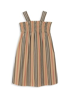 Burberry Little Girl's & Girl's Smocked Striped Dress