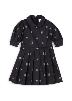 Burberry Little Girl's & Girl's Star & Monogram Puff-Sleeve A-Line Dress